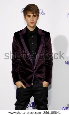 "LOS ANGELES, USA - FEBRUARY 8: Justin Bieber at the Los Angeles Premiere of ""Justin Bieber: Never Say Never"" held at the Nokia Theatre L.A. Live in Los Angeles, USA on February 8, 2011. - stock photo"
