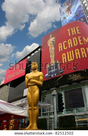 LOS ANGELES, USA - FEBRUARY 24: The 80th Academy Awards ceremony honors the best films in 2007 on February 24, 2008 at the Kodak Theater in Los Angeles, California - stock photo