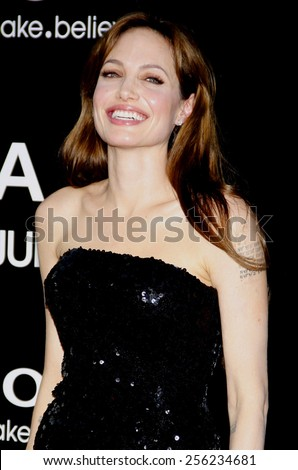 """LOS ANGELES, USA - JULY 19: Angelina Jolie at the Los Angeles Premiere of """"Salt"""" held at the Grauman's Chinese Theater in Hollywood, USA on July 19, 2010. - stock photo"""