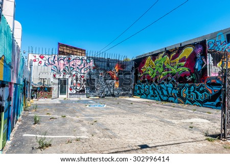 Los Angeles, USA   July 25: Wall Graffiti On Streets Of West Los Angeles Part 58