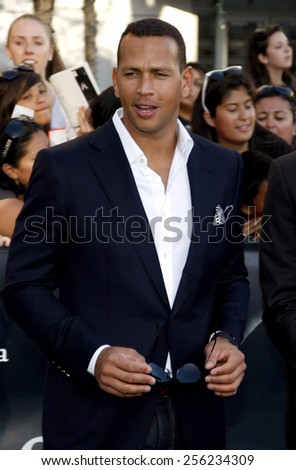 "LOS ANGELES, USA - JUNE 24: Alex Rodriguez at the Los Angeles Premiere of ""The Twilight Saga: Eclipse"" held at the Nokia LA Live Theater in Los Angeles, USA on June 24, 2010. - stock photo"