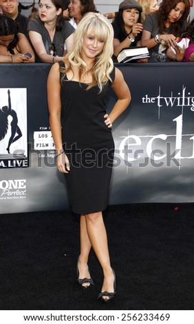 "LOS ANGELES, USA - JUNE 24: Chelsie Hightower at the Los Angeles Premiere of ""The Twilight Saga: Eclipse"" held at the Nokia LA Live Theater in Los Angeles, USA on June 24, 2010. - stock photo"