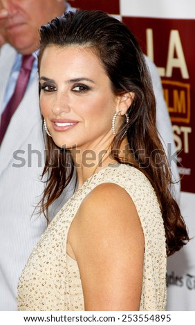 "LOS ANGELES, USA - JUNE 14: Penelope Cruz at the 2012 Los Angeles Film Festival premiere of ""To Rome With Love"" held at the Regal Cinemas L.A. LIVE Stadium 14, Los Angeles, USA on June 14, 2012. - stock photo"