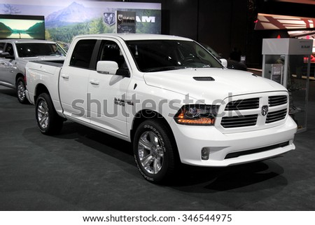 Los-Angeles, USA - Nov 18, 2015: Dodge RAM 1500 at the LA Auto Show on Nov 18, 2015 in LA, California