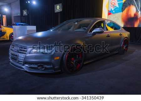 Los Angeles, USA - November 18, 2015:  Audi S7 on display during the 2015 Los Angeles Auto Show.