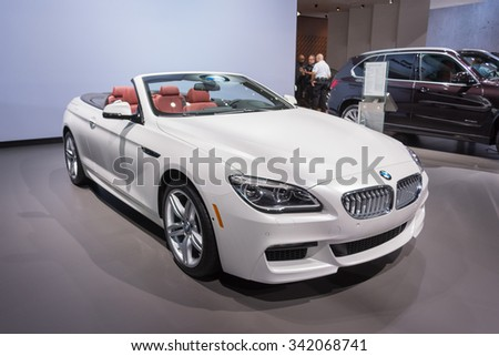 Los Angeles, USA - November 19, 2015: BMW Xdrive 650 i on display during the 2015 Los Angeles Auto Show.