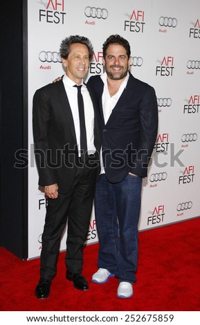 "LOS ANGELES, USA - NOVEMBER 3: Brian Grazer and Brett Ratner at the AFI Fest 2011 Opening Night Gala World Premiere Of ""J. Edgar"" held at Grauman's Chinese Theater in Hollywood on November 3, 2011."