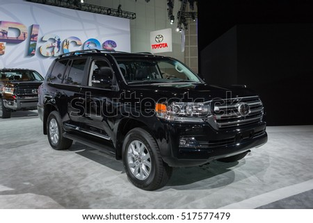 Los Angeles, USA - November 16, 2016: Toyota Land Cruiser on display during the Los Angeles Auto Show.