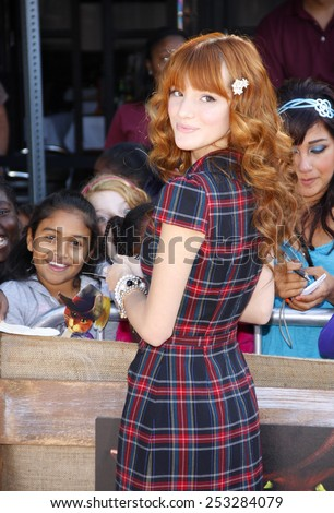 "LOS ANGELES, USA - OCTOBER 23: Bella Thorne at the Los Angeles Premiere of ""Puss in Boots"" held at Westwood Village Theater in Westwood, USA on October 23, 2011. - stock photo"