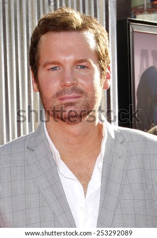 """LOS ANGELES, USA - OCTOBER 2: Eric Matheny at the Los Angeles Premiere of """"Real Steel"""" held at the Gibson Amphitheatre in Universal City, USA on October 2, 2011. - stock photo"""