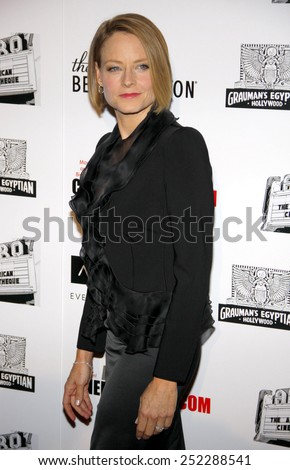 LOS ANGELES, USA - OCTOBER 14: Jodie Foster at the 25th American Cinematheque Award Honoring Robert Downey Jr. held at the Beverly Hilton hotel in Beverly Hills, USA on October 14, 2011. - stock photo