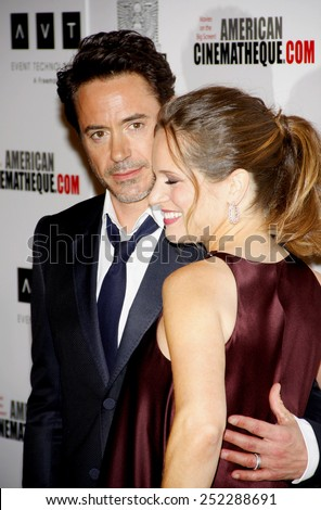 LOS ANGELES, USA - OCTOBER 14: Robert Downey Jr. and Susan Downey at the 25th American Cinematheque Award Honoring Robert Downey Jr. held at the Beverly Hilton hotel on October 14, 2011.