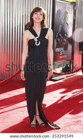 """LOS ANGELES, USA - OCTOBER 2: Yumi Amami at the Los Angeles Premiere of """"Real Steel"""" held at the Gibson Amphitheatre in Universal City, USA on October 2, 2011. - stock photo"""