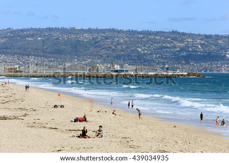 LOS ANGELS, CA, USA-MAY 21: Hermosa Beach, May 21, 2016 - stock photo