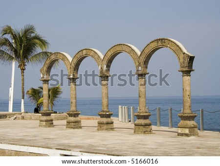 Los Arcos arches in Puerto Vallarta, Mexico - stock photo