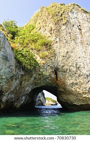 Los Arcos National Marine Park in Mexico near Puerto Vallarta - stock photo