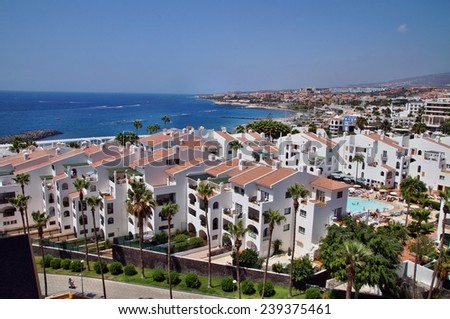 Los Cristianos in Tenerife, Canary Islands, Spain - stock photo