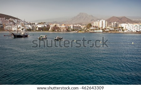 Los Cristianos on Tenerife Island, Canary Islands, Spain