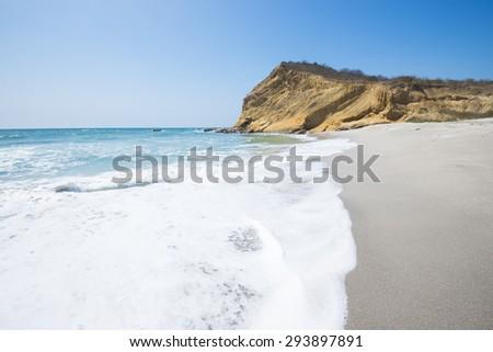 Los Frailes beach, Machalilla national park (Ecuador) - stock photo