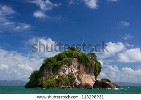 Los Haitises National Park, Bird Island, Dominican Republic - stock photo