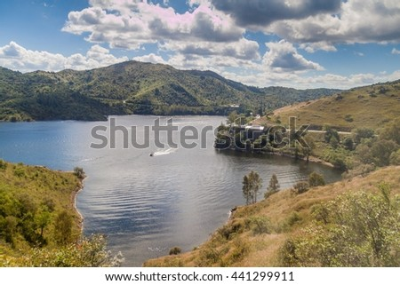 Los Molinos reservoir near Cordoba, Argentina - stock photo