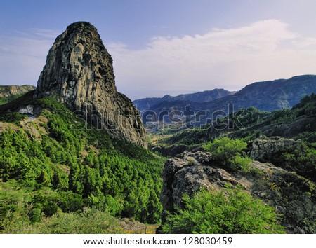 Los Roques(The Rocks), La Gomera, Canary Islands, Spain - stock photo