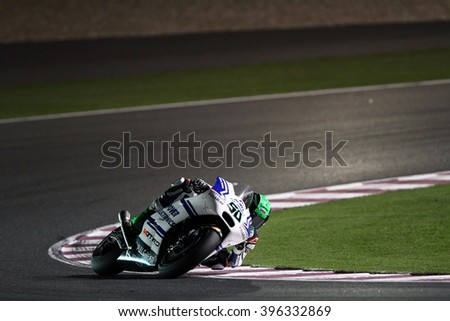 LOSAIL - QATAR, MARCH 20: Irish Ducati rider Eugene Laverty at 2016 Commercial Bank of Qatar MotoGP at Losail circuit on March 20, 2016