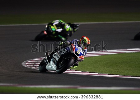 LOSAIL - QATAR, MARCH 20: Spanish Ducati rider Hector Barbera at 2016 Commercial Bank of Qatar MotoGP at Losail circuit on March 20, 2016