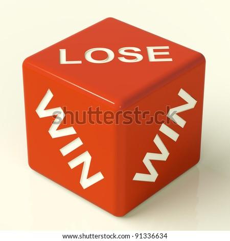 Lose Dice Represent Gambling And Losing - stock photo