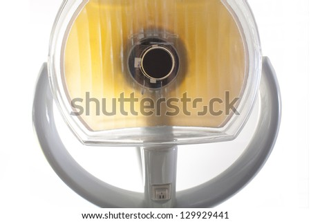 lose-up of dentist lamp at the top - stock photo