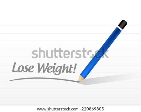 lose weight message illustration design over a white background - stock photo