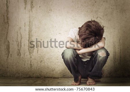 Lost and alone - stock photo