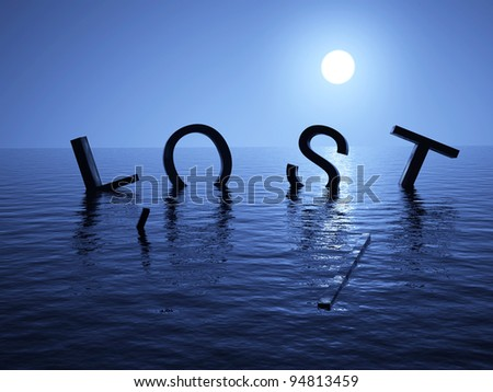 Lost at sea - stock photo