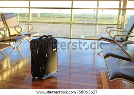 Lost baggage on the airport - stock photo