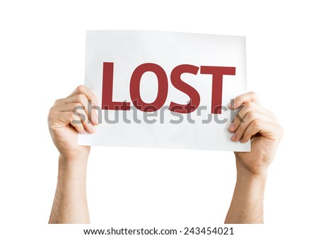 Lost card isolated on white background - stock photo