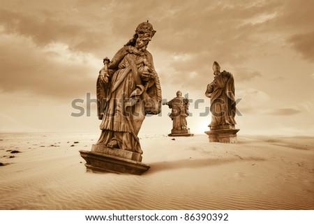 Lost civilization - stock photo