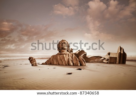Lost civilization - stock photo