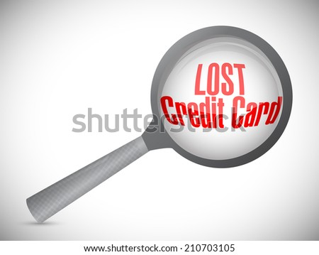 lost credit card under investigation illustration design over a white background