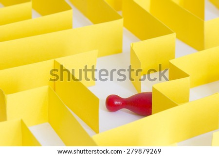lost in a maze - stock photo