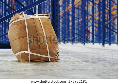 Lost package - stock photo