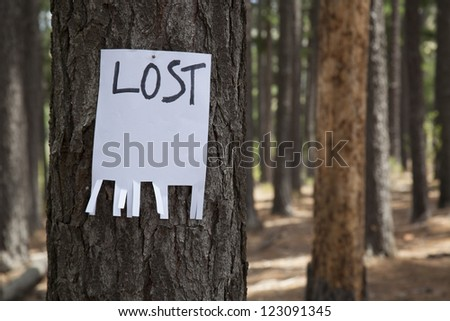 lost sign - stock photo