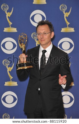 Lost star Michael Emerson at the 61st Primetime Emmy Awards at the Nokia Theatre L.A. Live. September 20, 2009  Los Angeles, CA Picture: Paul Smith / Featureflash