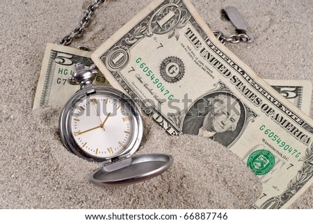 Lost Time and Money Concept - stock photo
