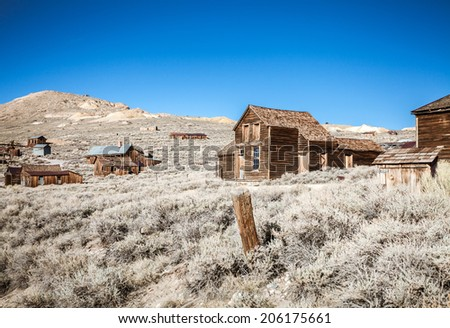 Lost town in Western California - stock photo