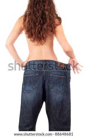 Lost weight - stock photo