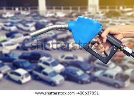 lot car refill oil concept background - stock photo