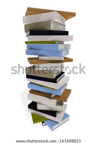 lot of books - stock photo