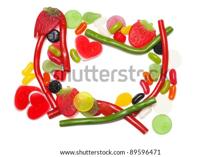 Lot of candies - stock photo