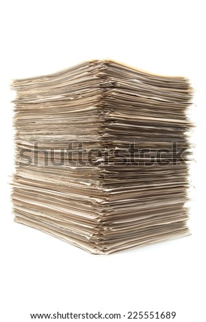 lot of documents on white background - stock photo