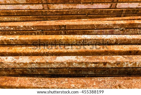 Lot of scaffold in the construction site. - stock photo